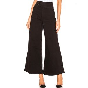 Free People Black Youthquake Bell Bottom Pant